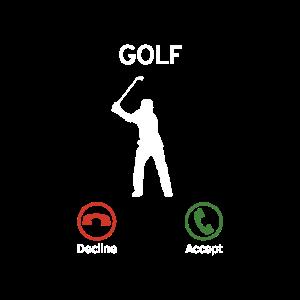 Golf ruft an - Golfer Geschenk