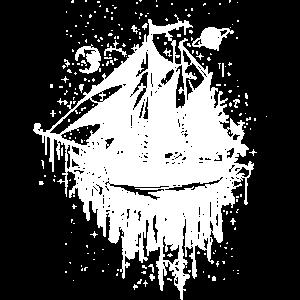 surrealistisches Segelschiff