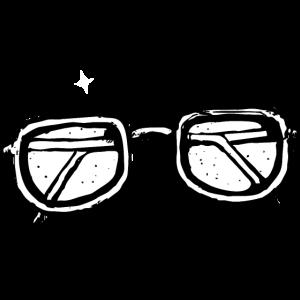 Hipster-Gläser