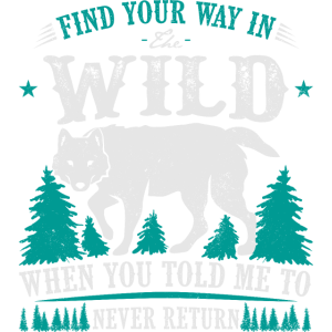 Find your way in the wild - camp - berg - wald