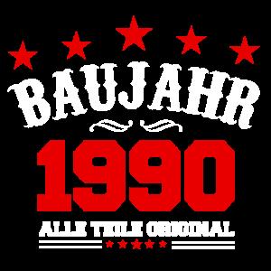 BAUJAHR 1990 Original Geburtstag Geschenk