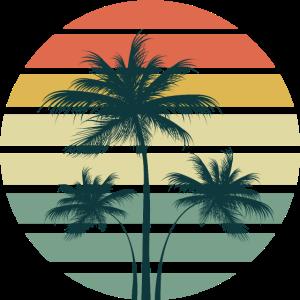 Palme Sommer-Strand-Sonne