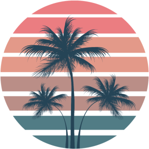 Surfer Sun Palms