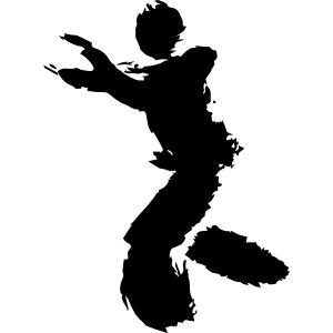 Wing Chun / Kung Fu Tusche Figur VEKTOR
