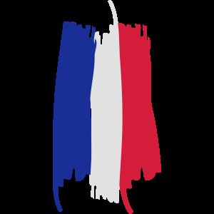 Französische Flagge vintage