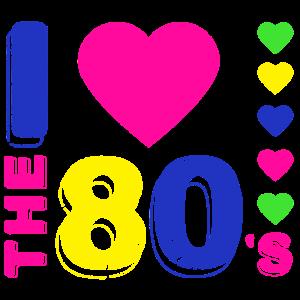 Ich liebe die 80er. 80er Jahre Stil. 80er Jahre Musik