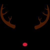 Rentier Rudolphs Hörner und Nase