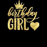 Geburtstags-Mädchen-goldene Nachahmung