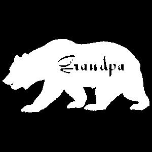 Grandpa Bear Camping Lover Geschenke. Bär der wild lebenden Tiere.