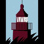 Leuchtturm auf dunkel