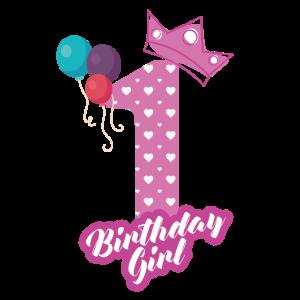 Brithday Girl 1 Geburtstag - Bday
