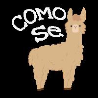 Como se Lama Tier spanisch Geschenk witzig crazy
