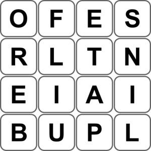 Grille 493 mots - Lettres verticales