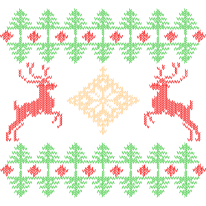 Ugly christmas pattern in classical colors