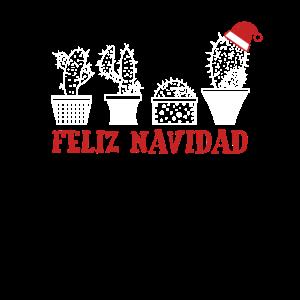 Feliz Navidad Kaktus Cactus Weihnachten Geschenk