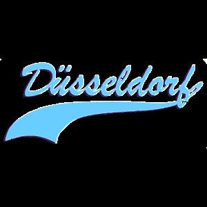 Duesseldorf Retro Schriftzug