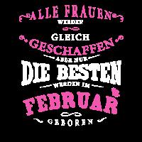Tshirt - Frauen geboren Februar