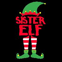 Sister Elf - Weihnachten Familie Geschenk Xmas