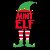 Aunt Tante Elf - Weihnachten Familie Geschenk Xmas