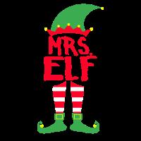 Mrs. Elf - Weihnachten Familie Geschenk Xmas