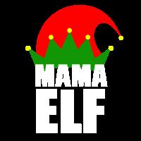 Mama Mom Elf - Weihnachten Familie Geschenk Xmas