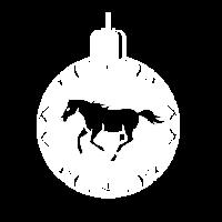 Weihnachten Pferd Kugel