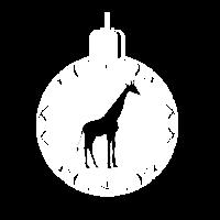 Weihnachten Giraffe Kugel