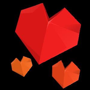 Origami Herz 3D Liebesherz