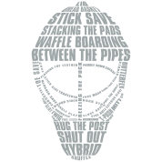 Hockey Goalie Mask (light colour design)
