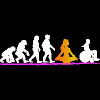 Yoga Tshirt lustig Evolution Design Geschenk Frau