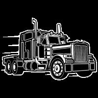 Truck / Lkw 03_schwarz weiß