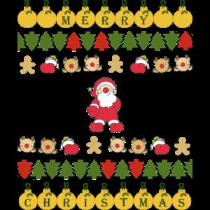 UGLY, hässliches Shirt MERRY Christmas Weihnachten
