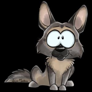 Ich bin Deutscher Schäferhund Grau