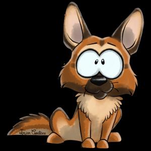 Ich bin Deutscher Schäferhund Fawn1
