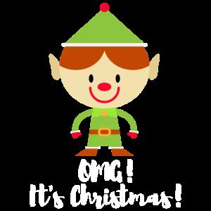 Frohe Weihnachtsgeschenke für Kinder und Familie. Elf.