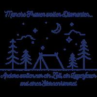Camping Frauen Zelt Lagerfeuer Sterne