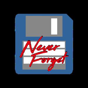 Never Forget Diskette Computer Speicher PC Retro