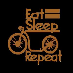 Eat Sleep Footbike repeat in Gold