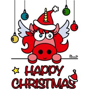 Unicorn Happy Christmas, Licorne Noël