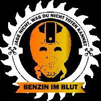 Motorrad Tshirt Lustig Benzin im Blut Geschenk