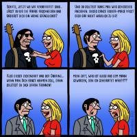 Musiker und die Ehe Comic