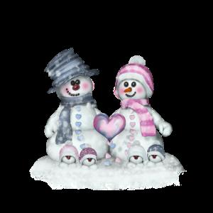 Schneefamilie