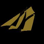 Zeesboot unter Segeln, ohne Hintergrund