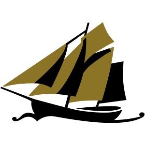 Zeesboot unter Segeln ohne Hintergrund