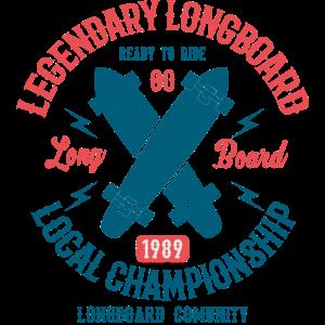 LEGENDARY LONGBOARD - Skater und Longboard Shirt
