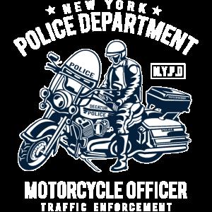 POLICE DEPARTMENT - Polizei Motorrad Shirt Motiv