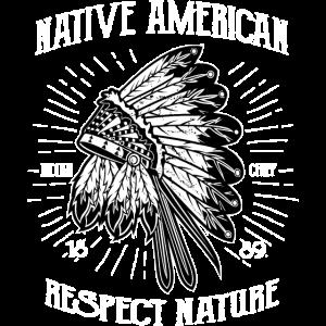 AMERICAN INDIAN - Indianer Shirt Motiv