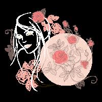 Mädchen Blume Rose weiß
