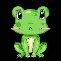 Süsser Frosch