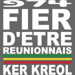 Logo fier d'etre kreol 974 ker kreol - blanc
